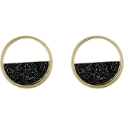 Panacea Half Moon Drusy Stud Earrings