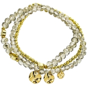 Panacea Crystal Stretch Charm Bracelet Set