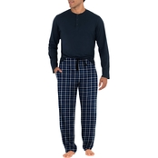 Izod Henley Top with Fleece Pants Pajama Set