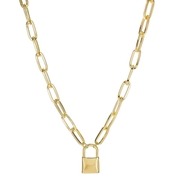 Panacea Goldtone Chunky Lock Chain Necklace
