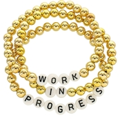 Panacea  Work in Progress Word Stretch Bracelet Set