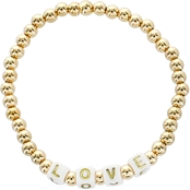 Panacea Goldtone Bead Love Stretch Bracelet