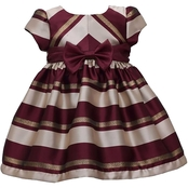 Bonnie Jean Infant Girls Jacquard Stripe Dress