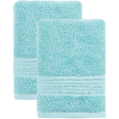 Ozan Premium Home 100% Genuine Turkish Cotton Cascade Hand Towels Set of 2