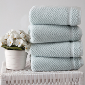 Ozan Premium Home 100% Turkish Cotton Maui Collection Luxury Hand Towels Set of 4