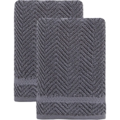 Ozan Premium Home 100% Turkish Cotton Maui Collection Luxury Hand Towels Set of 2