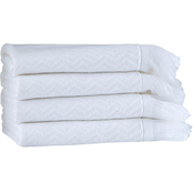 Ozan Premium Home Luciana Collection Bamboo and Cotton Washcloths 4 pc. Set