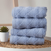 Ozan Premium Home Esperance Collection 100% Turkish Cotton 4 pc. Hand Towel Set