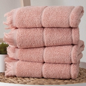 Ozan Premium Home Mirage Collection 100% Turkish Cotton 4 pc. Hand Towel Set