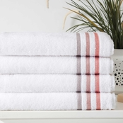 Ozan Premium Home Bedazzle Genuine 100% Turkish Cotton Bath Towel 4 pk.