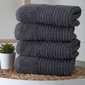 Ozan Premium Home Sorano Collection 100% Turkish Cotton 4 pc. Hand Towels