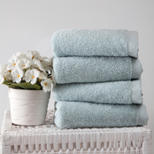 Ozan Premium Home 100% Genuine Turkish Cotton Horizon Hand Towels 4 pc. Set