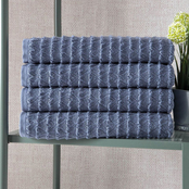 Ozan Premium Home Azure Collection 100% Turkish Cotton Bath Towels 4 pc. Set