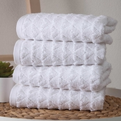Ozan Premium Home Azure 100% Turkish Cotton Hand Towel 4 pk.