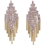 Vince Camuto Goldtone Pave Berry Crystal Mesh Fringe Earrings