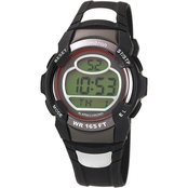 Armitron Men's Sport Red Accent Digital Chronograph Resin Strap Watch 40/8089RED