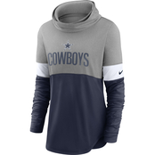 Nike NFL Dallas Cowboys Women's Light Impact Cowl Neck Top