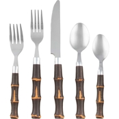 Cambridge Silversmiths Bamboo Dark 20 pc. Flatware Set