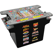 Arcade 1UP Deluxe 12 in 1 Head to Head Cocktail Table with Split Screen