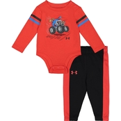 Under Armour Infant Boys Monster Truck Bodysuit and Pants 2 pc. Set