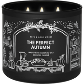 Bath & Body Works Fox Cafe Messaging: 3 Wick Candle, The Perfect Autumn
