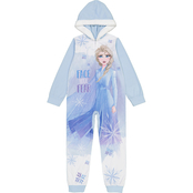Disney Girls Frozen Fleece Hooded Blanket Sleeper