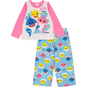 Baby Shark Infant Girls 2 pc. Fleece Pajamas Set