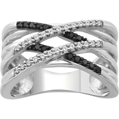 She Shines Sterling Silver 1/3 CTW Diamond Crossover Ring