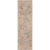 Karastan Rime Dove 2.4 x 7.10 ft. Runner Rug
