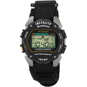 Armitron Men's Sport Digital Chronograph Black Nylon Strap Watch 40/6623