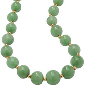PalmBeach 10K Yellow Gold 18 in. Green Jade Necklace