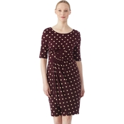 Connected Apparel Polka Dot Dress