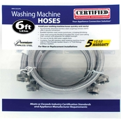 Certified Appliance 6 ft. Braided Stainless Steel Washing Machine Hose 2 pk.