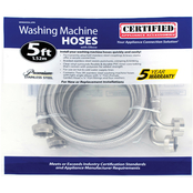 Certified Appliance 5 ft. Braided Steel Washing Machine Hose with Elbow 2 pk.