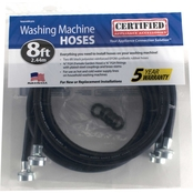Certified Appliance 8 ft. Black EPDM Rubber Washing Machine Hose 2 pk.
