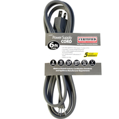 Certified Appliance 6 ft. 15 Amp Grounded Straight Plug Head Power Supply Cord