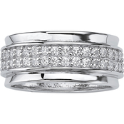 PalmBeach Sterling Silver Cubic Zirconia Band