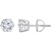 14K 3 CTW Certified IGI Round Solitaire Earrings