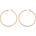 Palm Beach 10K Yellow Gold Tubular Hoop Earrings