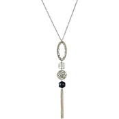 Panacea Crystal Stacked Jewel Pendant Necklace