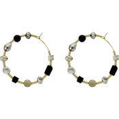 Panacea Stone Spring Hoop Earrings