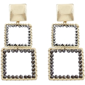 Panacea Crystal Square Linear Earrings