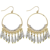Panacea Crystal Drops Hoop Earrings