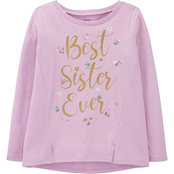 Carter's Little Girls Best Sister Ever Jersey Tee