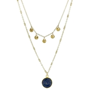 Panacea Stone Two Row Disc Necklace