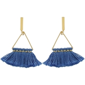 Panacea Mini Cotton Tassel Post Earrings