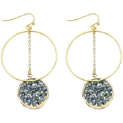 Panacea Crystal Disc Hoop Earrings