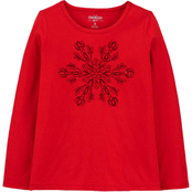 OshKosh B'gosh Girls Snowflake Tee