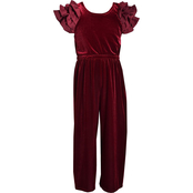 Bonnie Jean Little Girls Velvet Jumpsuit