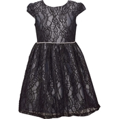 Bonnie Jean Girls Black Lace Dirndl